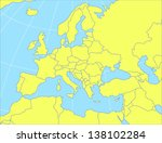 vector map of europe. eps10... | Shutterstock .eps vector #138102284