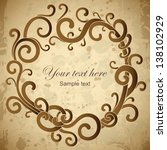 vector frame card with vignette | Shutterstock .eps vector #138102929