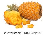 pineapple on a white background | Shutterstock . vector #1381034906