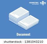 document icon. pile of... | Shutterstock .eps vector #1381043210