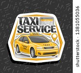 logo for taxi service  white...   Shutterstock . vector #1381055036