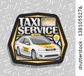 logo for taxi service  black...   Shutterstock . vector #1381055276