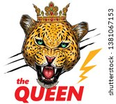 leopard queen illustration t...   Shutterstock .eps vector #1381067153