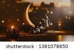 3d render of iftar celebration... | Shutterstock . vector #1381078850