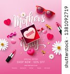 happy mother's day sale poster... | Shutterstock .eps vector #1381092719