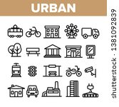Urban, City Life Thin Line Icons Set. Urban Architecture, Transportation, Industry Linear Illustrations. Municipal Government Buildings. City Traffic, Road Safety, CCTV Monitoring Contour Pictograms
