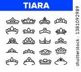 tiara  royal accessory vector... | Shutterstock .eps vector #1381092989
