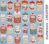 candy seamless background.... | Shutterstock .eps vector #138109589