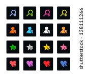 loupe  user profile  star...