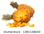 pineapple on a white background | Shutterstock . vector #1381138643