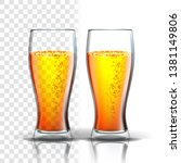 realistic glass with bubbles... | Shutterstock .eps vector #1381149806