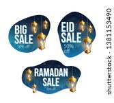 ramadan kareem sale banners eid | Shutterstock .eps vector #1381153490