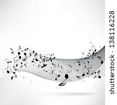 abstract musical background... | Shutterstock . vector #138116228