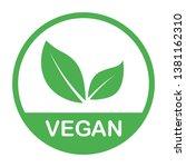 vegan bio  ecology  organic... | Shutterstock .eps vector #1381162310