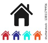 home icon vector  four in one  | Shutterstock .eps vector #1381179956