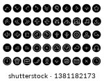 basic outline icons set vector