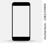 smartphone in iphone style... | Shutterstock .eps vector #1381193840