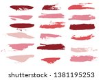 makeup strokes  beauty and... | Shutterstock .eps vector #1381195253
