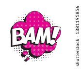 word 'bam ' in retro comic... | Shutterstock .eps vector #1381195856
