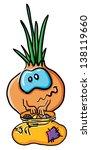 funny cartoon onion on the...
