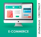 e commerce flat color icon....