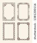 antique ornate picture frames... | Shutterstock . vector #1381200116