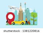 travel to new york creative... | Shutterstock .eps vector #1381220816
