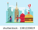 travel to new york creative... | Shutterstock .eps vector #1381220819