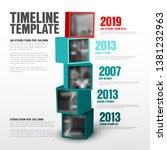 vector timeline template made... | Shutterstock .eps vector #1381232963
