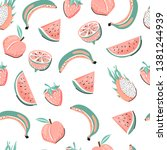 seamless tropical pattern with... | Shutterstock .eps vector #1381244939