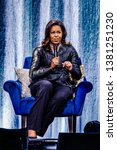 Small photo of 17 April 2019. Ziggo Dome, Amsterdam, The Netherlands. Michelle Obama Becoming: An Intimate Conversation