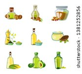 isolated object of bottle and... | Shutterstock .eps vector #1381252856