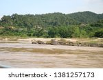 view of the river side   Shutterstock . vector #1381257173