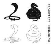 vector illustration of mammal... | Shutterstock .eps vector #1381259783