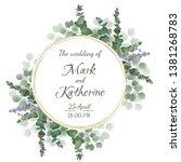 vector template for wedding... | Shutterstock .eps vector #1381268783