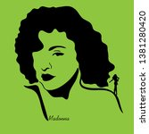madonna singer graphic vector...