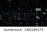 3d digital technology network... | Shutterstock . vector #1381284173
