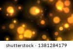 rising particle colorful ball... | Shutterstock . vector #1381284179