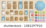 icons set. outdoor furniture... | Shutterstock .eps vector #1381297910