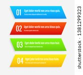 gradient infographics banners.... | Shutterstock .eps vector #1381299323