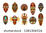 flat set of colorful african... | Shutterstock .eps vector #1381306526