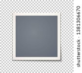 square blank retro  vintage...   Shutterstock .eps vector #1381306670