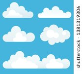 cartoon clouds. collection of... | Shutterstock .eps vector #1381319306