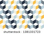 4 dimensional line square grid ... | Shutterstock .eps vector #1381331723