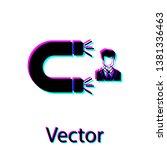 black customer attracting icon... | Shutterstock .eps vector #1381336463