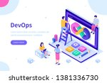 devops at work concept. can use ... | Shutterstock . vector #1381336730