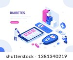 diabetes monitoring concept.... | Shutterstock . vector #1381340219