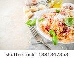 italian food  fusilli pasta...   Shutterstock . vector #1381347353