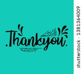 thank you card. black text... | Shutterstock .eps vector #1381364009