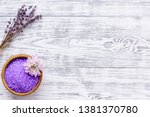 aroma therapy with lavender... | Shutterstock . vector #1381370780